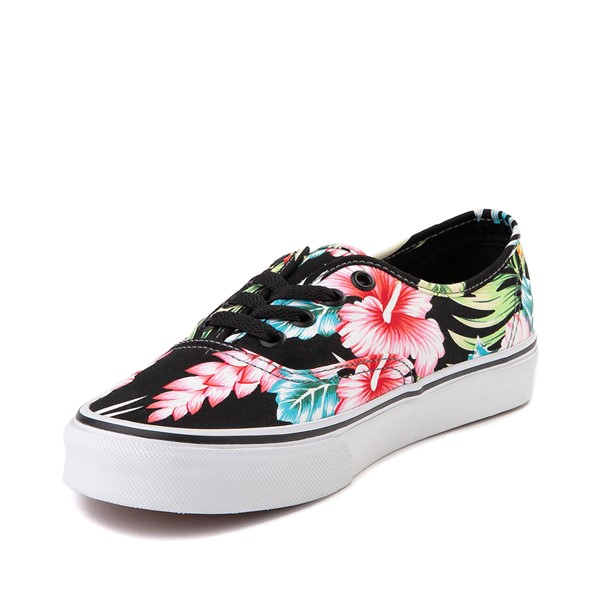alternate image alternate view Vans Authentic Hawaiian Floral Skate Shoe - BlackALT2