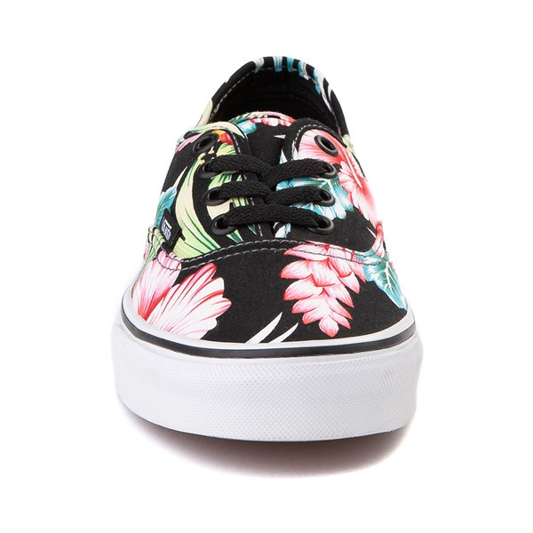 alternate image alternate view Vans Authentic Hawaiian Floral Skate Shoe - BlackALT4