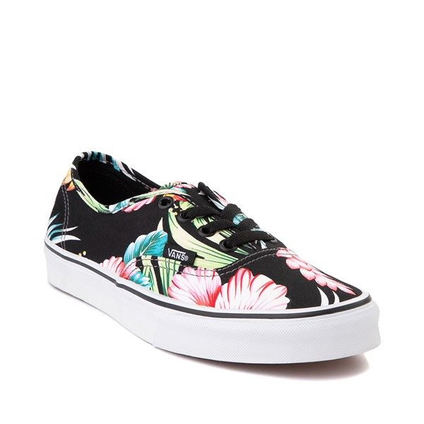 alternate image alternate view Vans Authentic Hawaiian Floral Skate Shoe - BlackALT5