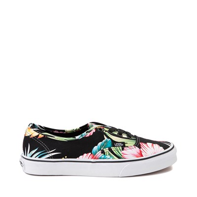 Main view of Vans Authentic Hawaiian Floral Skate Shoe - Black