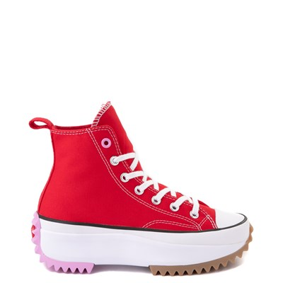 Main view of Converse Run Star Hike Platform Sneaker - Red / White / Pink