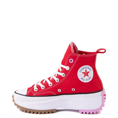 Alternate view of Converse Run Star Hike Platform Sneaker - Red / White / Pink