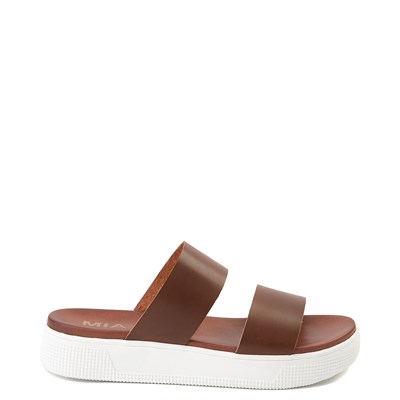 Main view of Womens MIA Saige Slide Sandal - Cognac