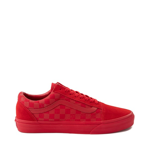 Main view of Vans Old Skool Tonal Checkerboard Skate Shoe - Racing Red