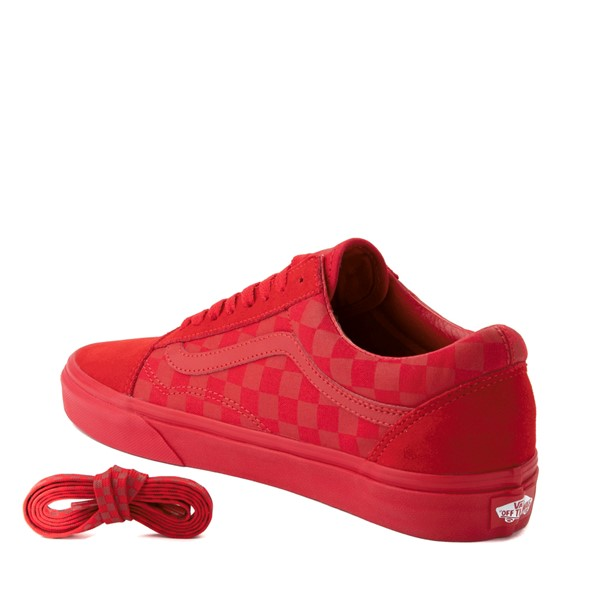 alternate image alternate view Vans Old Skool Tonal Checkerboard Skate Shoe - Racing RedALT1