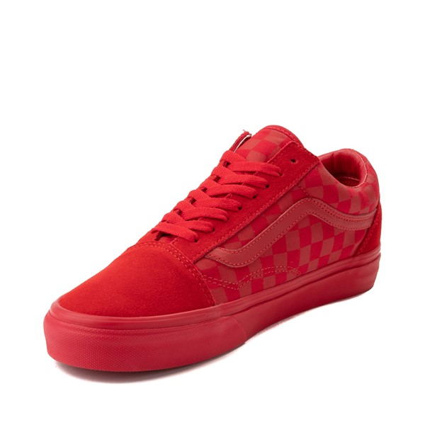 alternate image alternate view Vans Old Skool Tonal Checkerboard Skate Shoe - Racing RedALT2