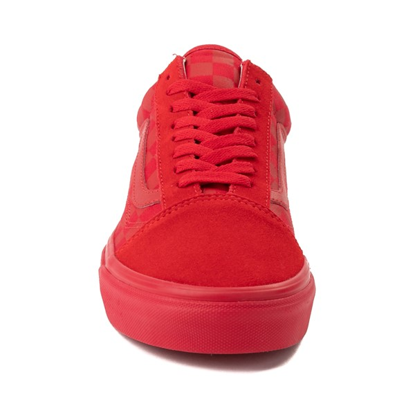 alternate image alternate view Vans Old Skool Tonal Checkerboard Skate Shoe - Racing RedALT4