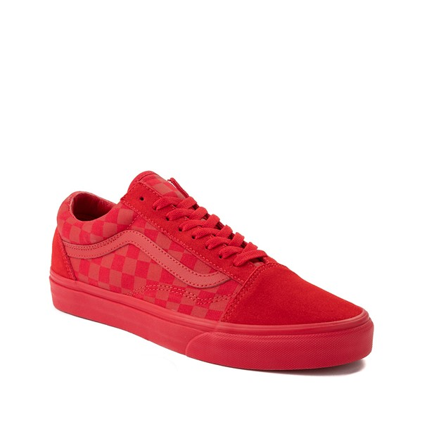 alternate image alternate view Vans Old Skool Tonal Checkerboard Skate Shoe - Racing RedALT5