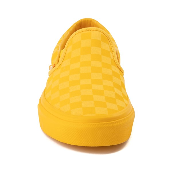 alternate image alternate view Vans Slip On Tonal Checkerboard Skate Shoe - Spectra YellowALT4