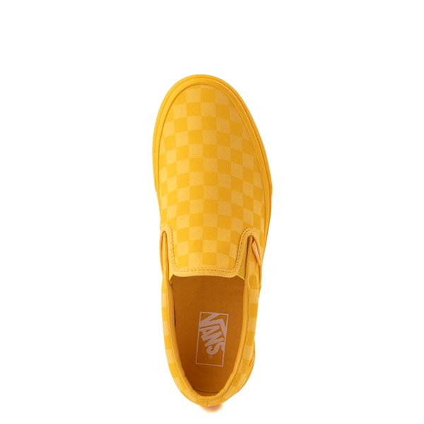 alternate image alternate view Vans Slip On Tonal Checkerboard Skate Shoe - Spectra YellowALT4B