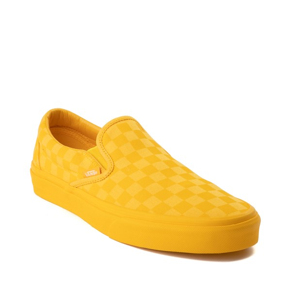 alternate image alternate view Vans Slip On Tonal Checkerboard Skate Shoe - Spectra YellowALT5
