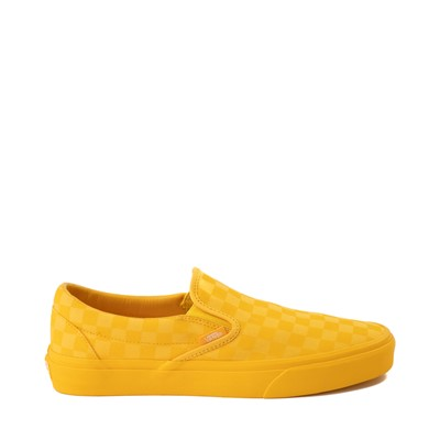 Main view of Vans Slip On Tonal Checkerboard Skate Shoe - Spectra Yellow