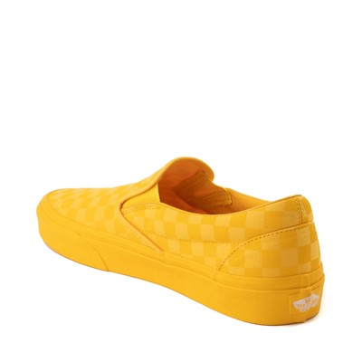 Alternate view of Vans Slip On Tonal Checkerboard Skate Shoe - Spectra Yellow