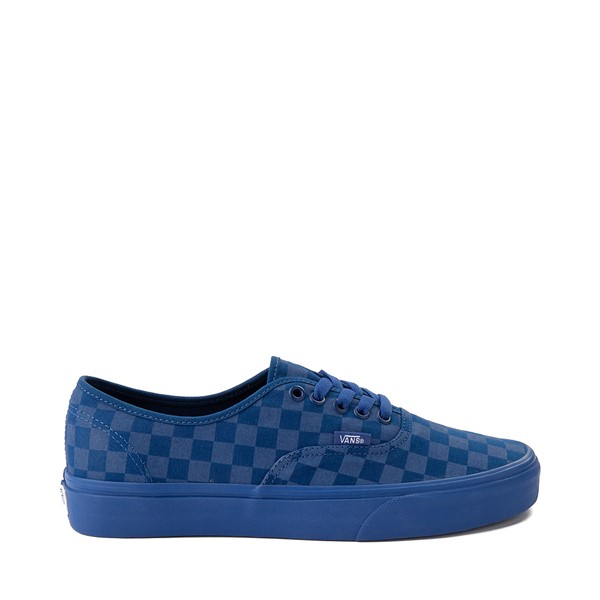 Vans Authentic Tonal Checkerboard Skate Shoe - True Blue