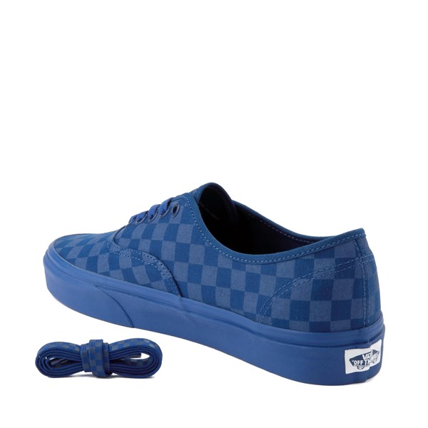 alternate image alternate view Vans Authentic Tonal Checkerboard Skate Shoe - True BlueALT1