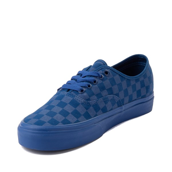 alternate image alternate view Vans Authentic Tonal Checkerboard Skate Shoe - True BlueALT2