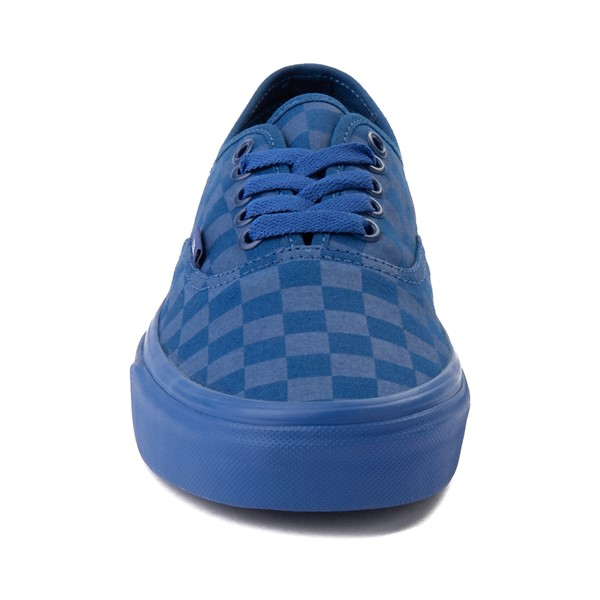 alternate image alternate view Vans Authentic Tonal Checkerboard Skate Shoe - True BlueALT4