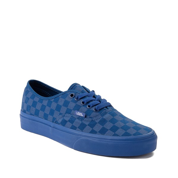 alternate image alternate view Vans Authentic Tonal Checkerboard Skate Shoe - True BlueALT5