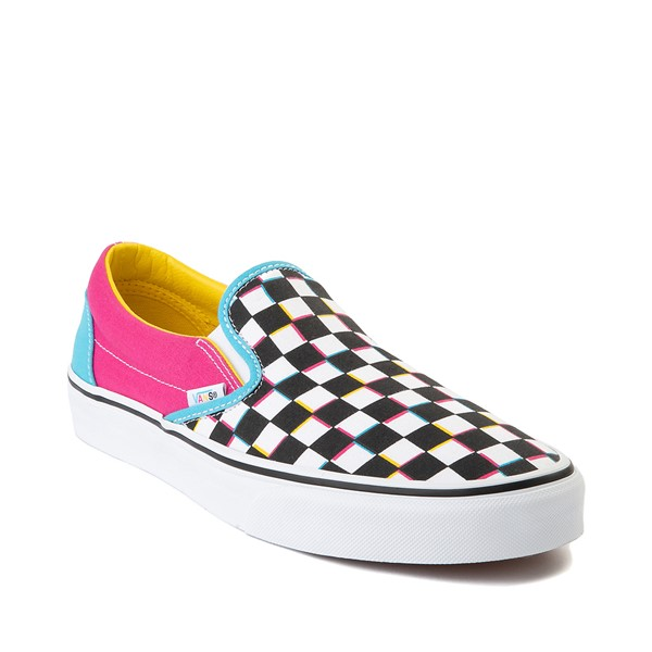 alternate image alternate view Vans Slip On Checkerboard Skate Shoe - MultiALT5