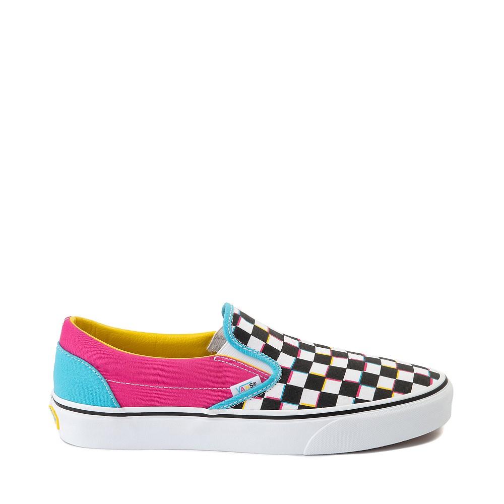Vans Slip On Checkerboard Skate Shoe - Multi