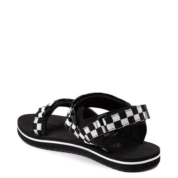 alternate image alternate view Womens Vans Tri-Lock Checkerboard Sandal - Black / WhiteALT2