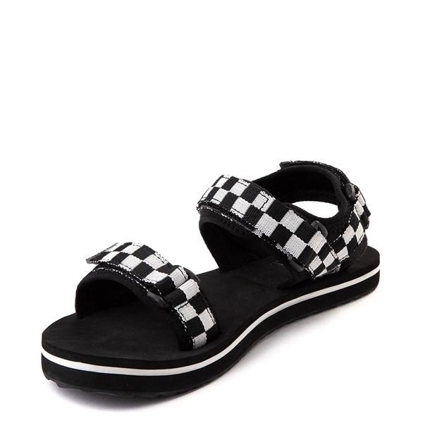 alternate image alternate view Womens Vans Tri-Lock Checkerboard Sandal - Black / WhiteALT3