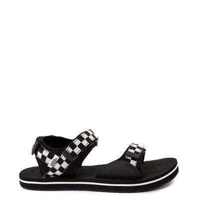 Main view of Womens Vans Tri-Lock Checkerboard Sandal - Black / White