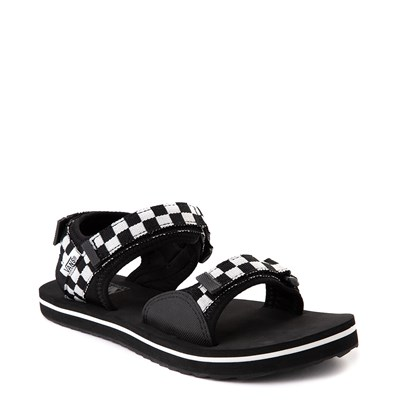 Alternate view of Womens Vans Tri-Lock Checkerboard Sandal - Black / White