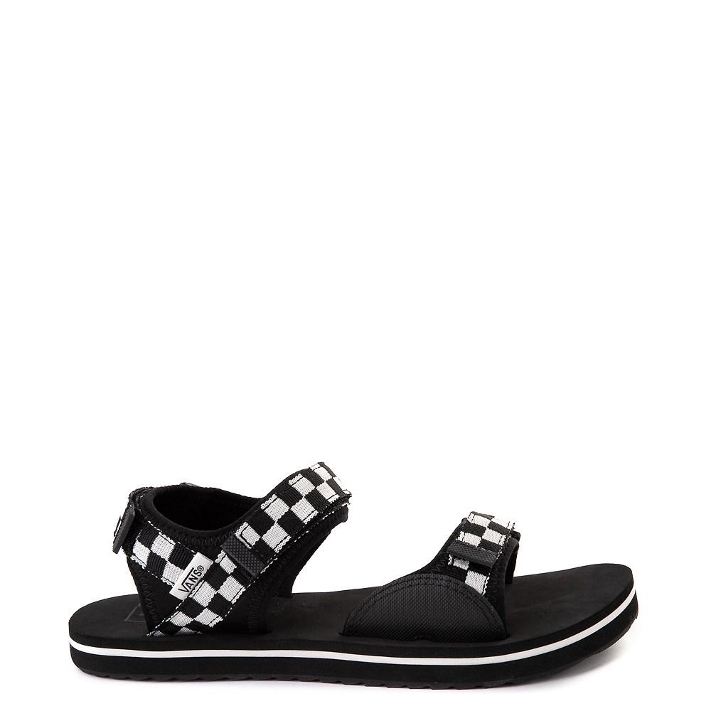 Womens Vans Tri-Lock Checkerboard Sandal - Black / White