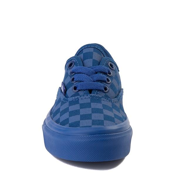 alternate image alternate view Vans Authentic Tonal Checkerboard Skate Shoe - Little Kid - True BlueALT4