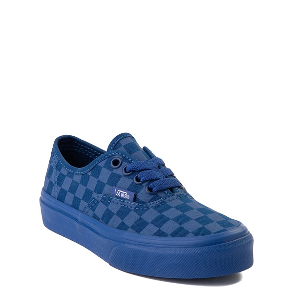 alternate image alternate view Vans Authentic Tonal Checkerboard Skate Shoe - Little Kid - True BlueALT5