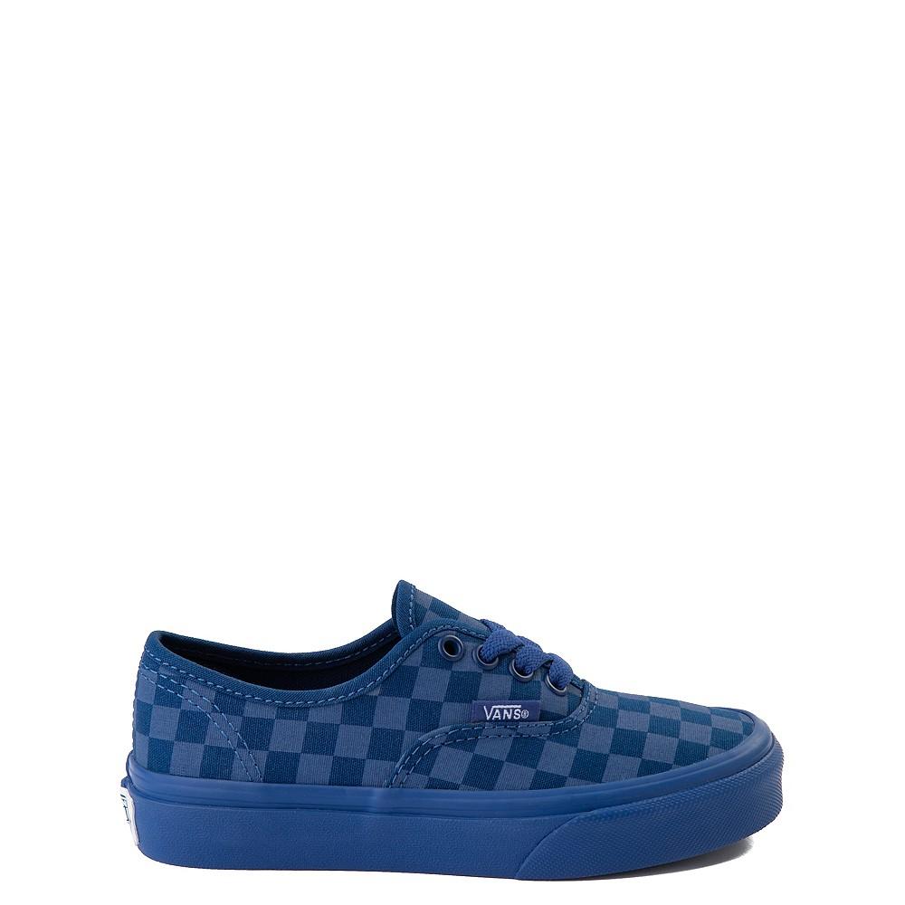 Vans Authentic Tonal Checkerboard Skate Shoe - Little Kid - True Blue