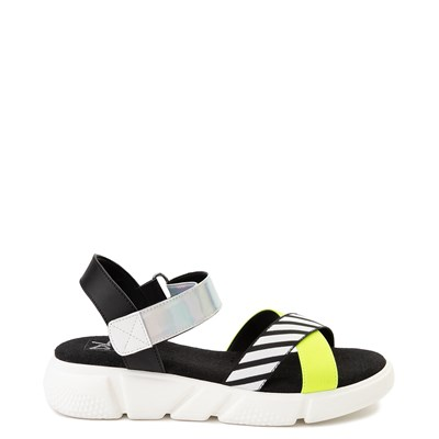 Main view of Womens Dirty Laundry All Time Sandal - Black / White / Yellow