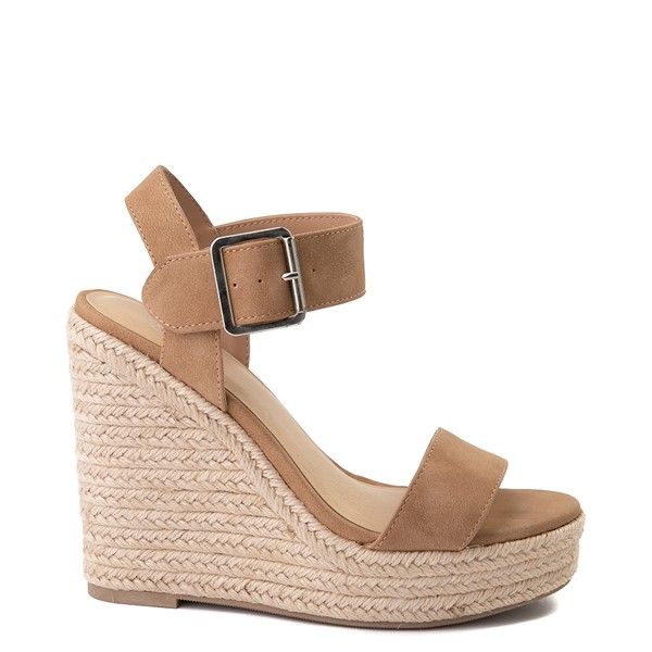 Main view of Womens Heart in D Burst-S Wedge - Camel