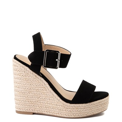 Main view of Womens Heart in D Burst-S Wedge - Black