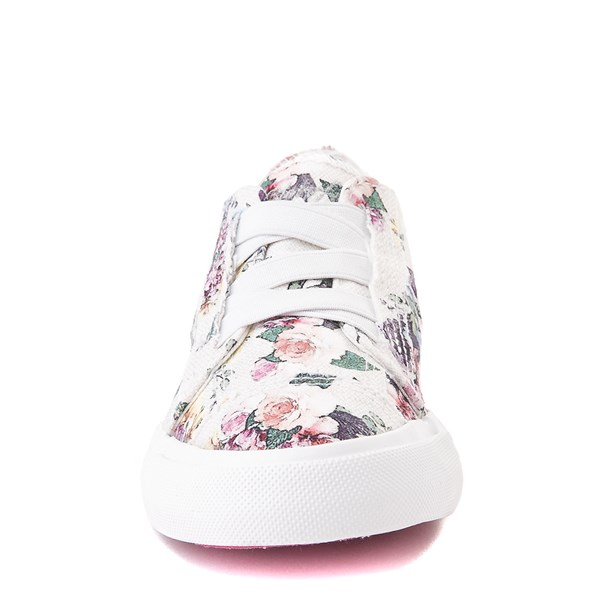 alternate image alternate view Blowfish Marley Slip On Casual Shoe - Little Kid / Big Kid - Grey / FloralALT4