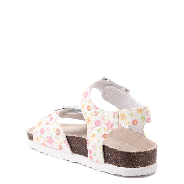 alternate image alternate view Laura Ashley Shine Sandal - Toddler - White / FloralALT1