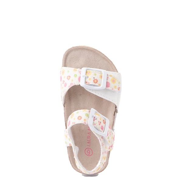 alternate image alternate view Laura Ashley Shine Sandal - Toddler - White / FloralALT2