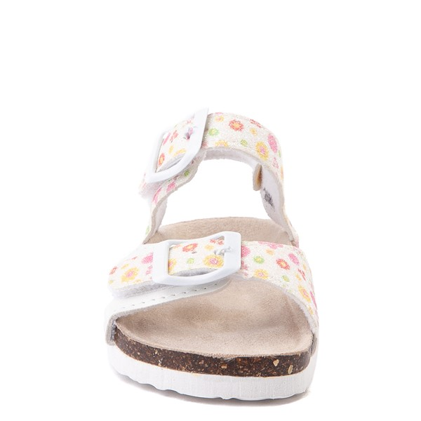 alternate image alternate view Laura Ashley Shine Sandal - Toddler - White / FloralALT4