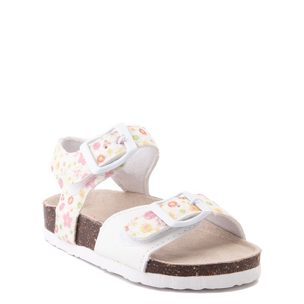 alternate image alternate view Laura Ashley Shine Sandal - Toddler - White / FloralALT5