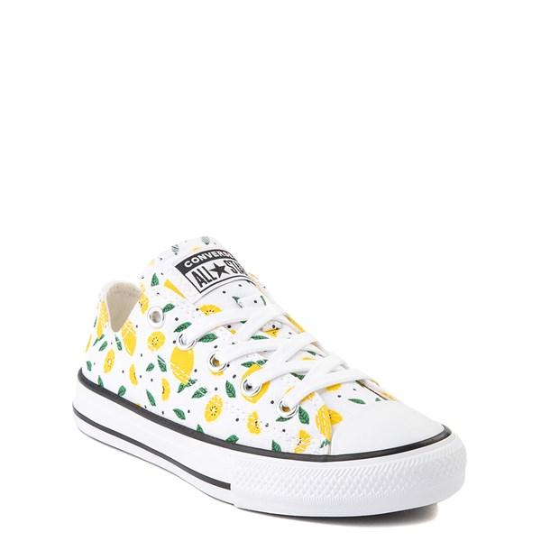 alternate image alternate view Converse Chuck Taylor All Star Lo Sneaker - Little Kid - White / LemonsALT1