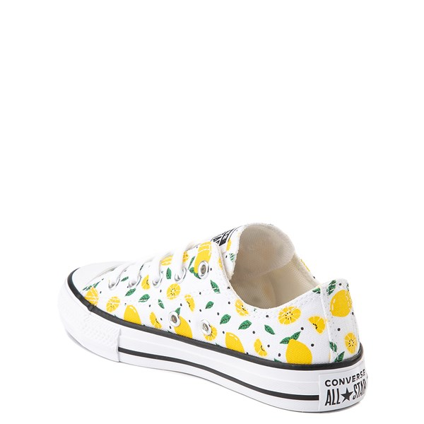 alternate image alternate view Converse Chuck Taylor All Star Lo Sneaker - Little Kid - White / LemonsALT2