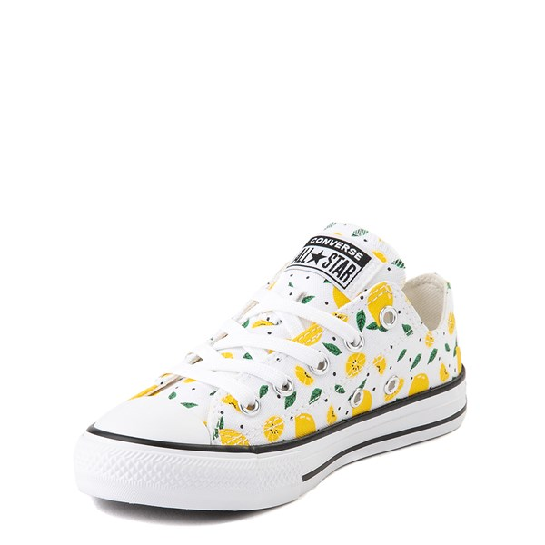 alternate image alternate view Converse Chuck Taylor All Star Lo Sneaker - Little Kid - White / LemonsALT3
