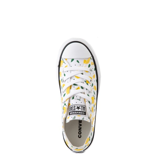 alternate image alternate view Converse Chuck Taylor All Star Lo Sneaker - Little Kid - White / LemonsALT4B