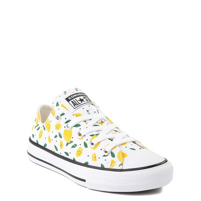 Alternate view of Converse Chuck Taylor All Star Lo Sneaker - Little Kid - White / Lemons