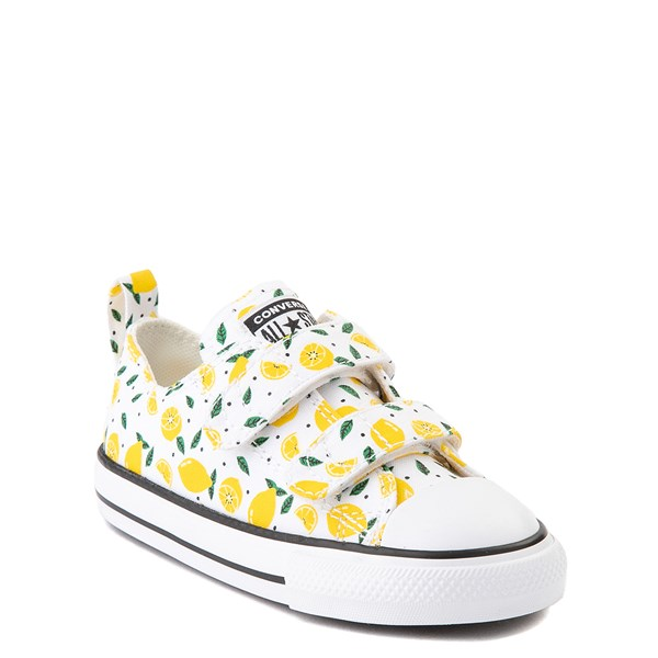 alternate image alternate view Converse Chuck Taylor All Star 2V Lo Sneaker - Baby / Toddler - White / LemonALT1
