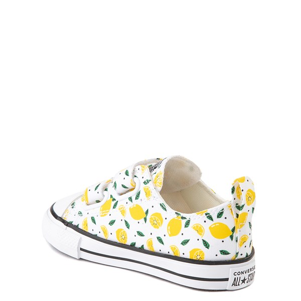 alternate image alternate view Converse Chuck Taylor All Star 2V Lo Sneaker - Baby / Toddler - White / LemonALT2