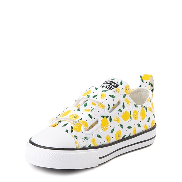 alternate image alternate view Converse Chuck Taylor All Star 2V Lo Sneaker - Baby / Toddler - White / LemonALT3