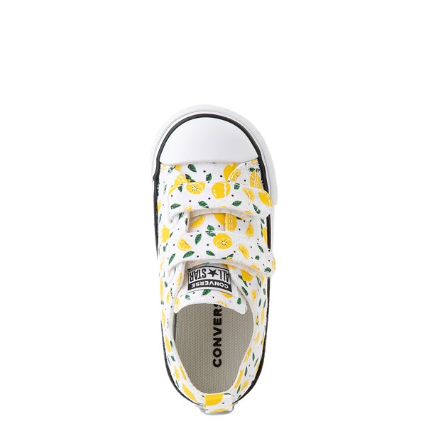 alternate image alternate view Converse Chuck Taylor All Star 2V Lo Sneaker - Baby / Toddler - White / LemonALT4B