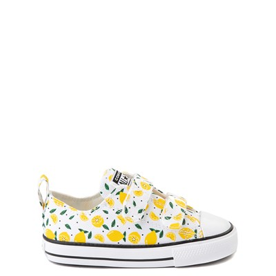 Main view of Converse Chuck Taylor All Star 2V Lo Sneaker - Baby / Toddler - White / Lemon